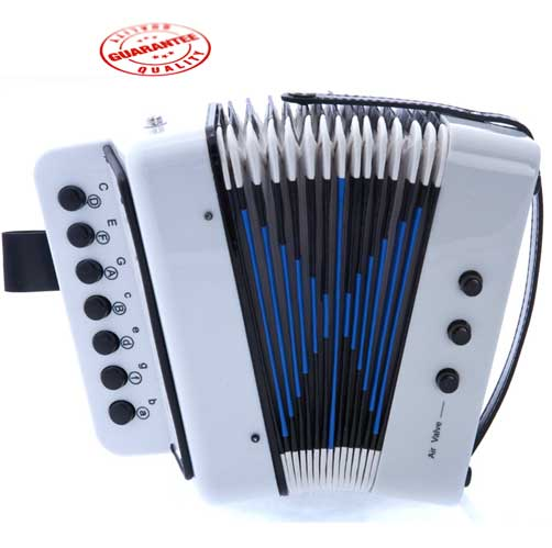 DLuca Child Button Accordion White by D'Luca