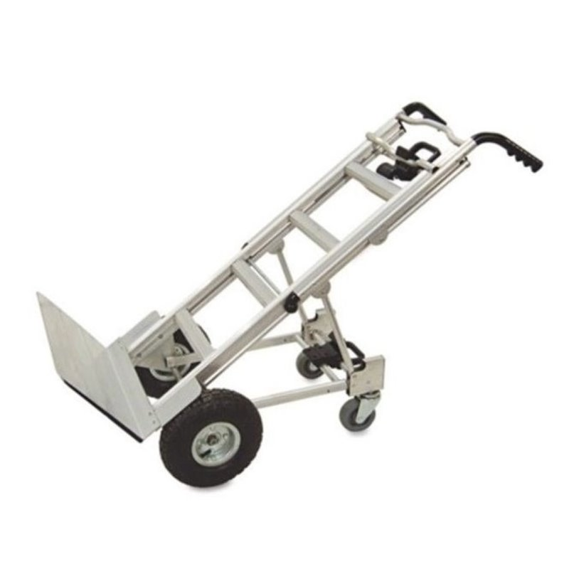 Bowery Hill 3-in-1 Aluminum Hand Truck Cart in Gray