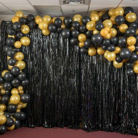 Masquerade Balloon Decorations (Midnight Masquerade Balloon Garland)
