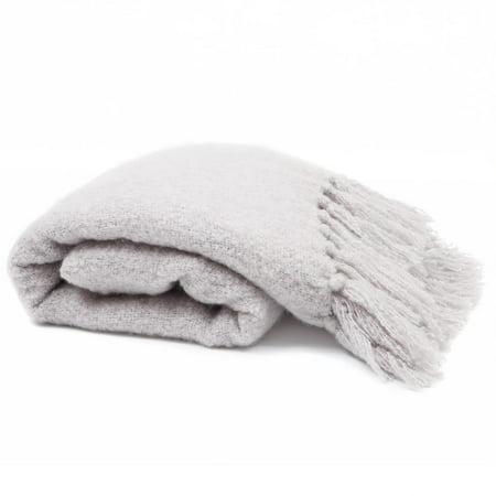Mohair Throw Blanket (MoDRN Woven Faux Mohair Throw Blanket, Gray Mist)