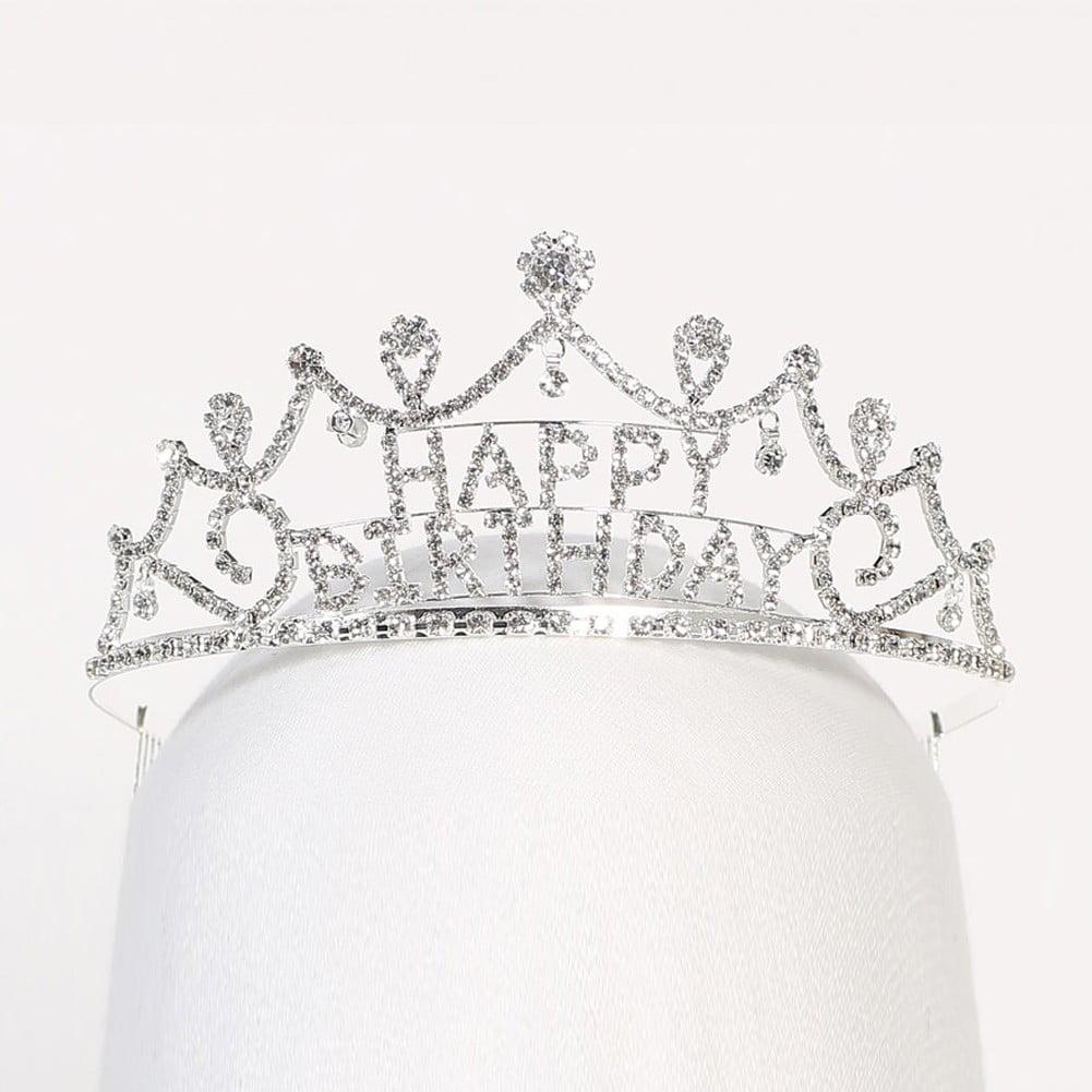 Angels Garment Girls Silver Happy Birthday Precious Tiara Headpiece