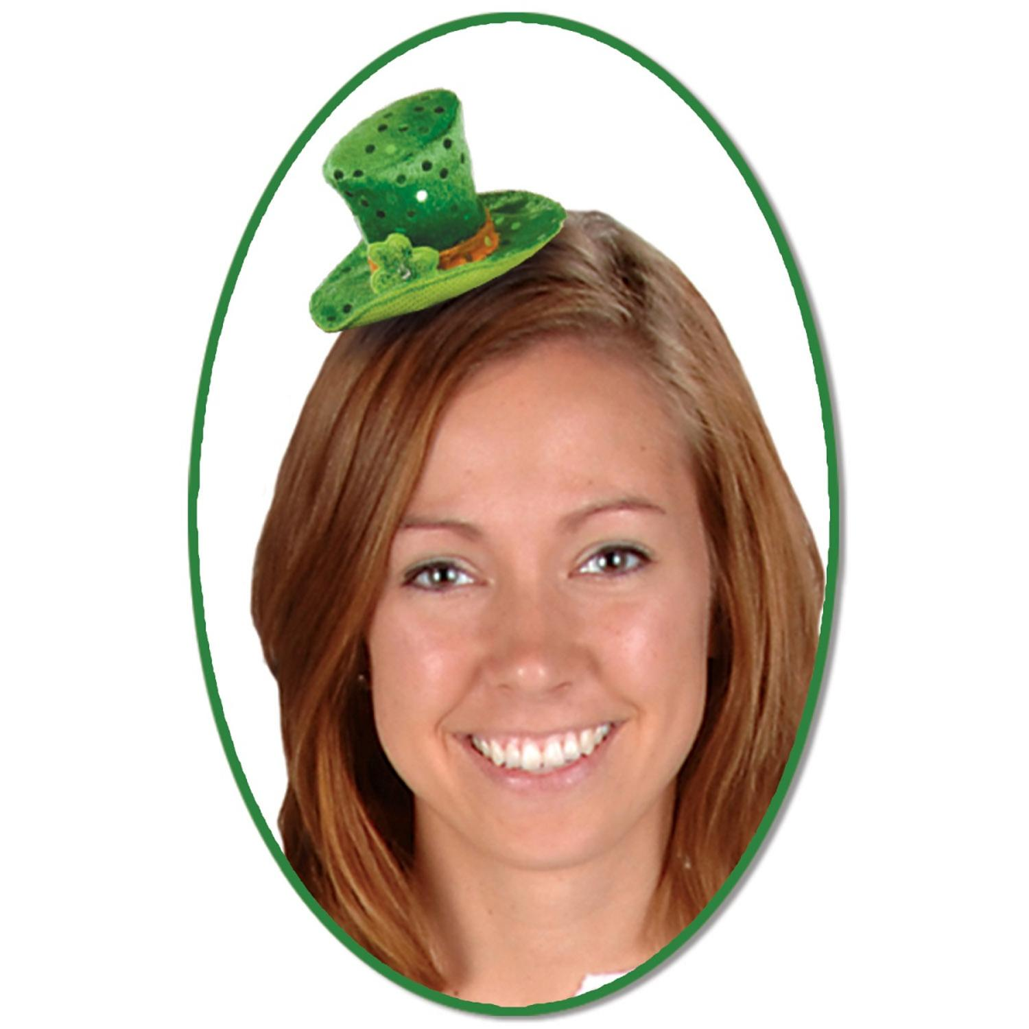 Club Pack of 12 Green Leprechaun Hat Hair Clip St. Patrick's Day Party Favor Costume Accessories