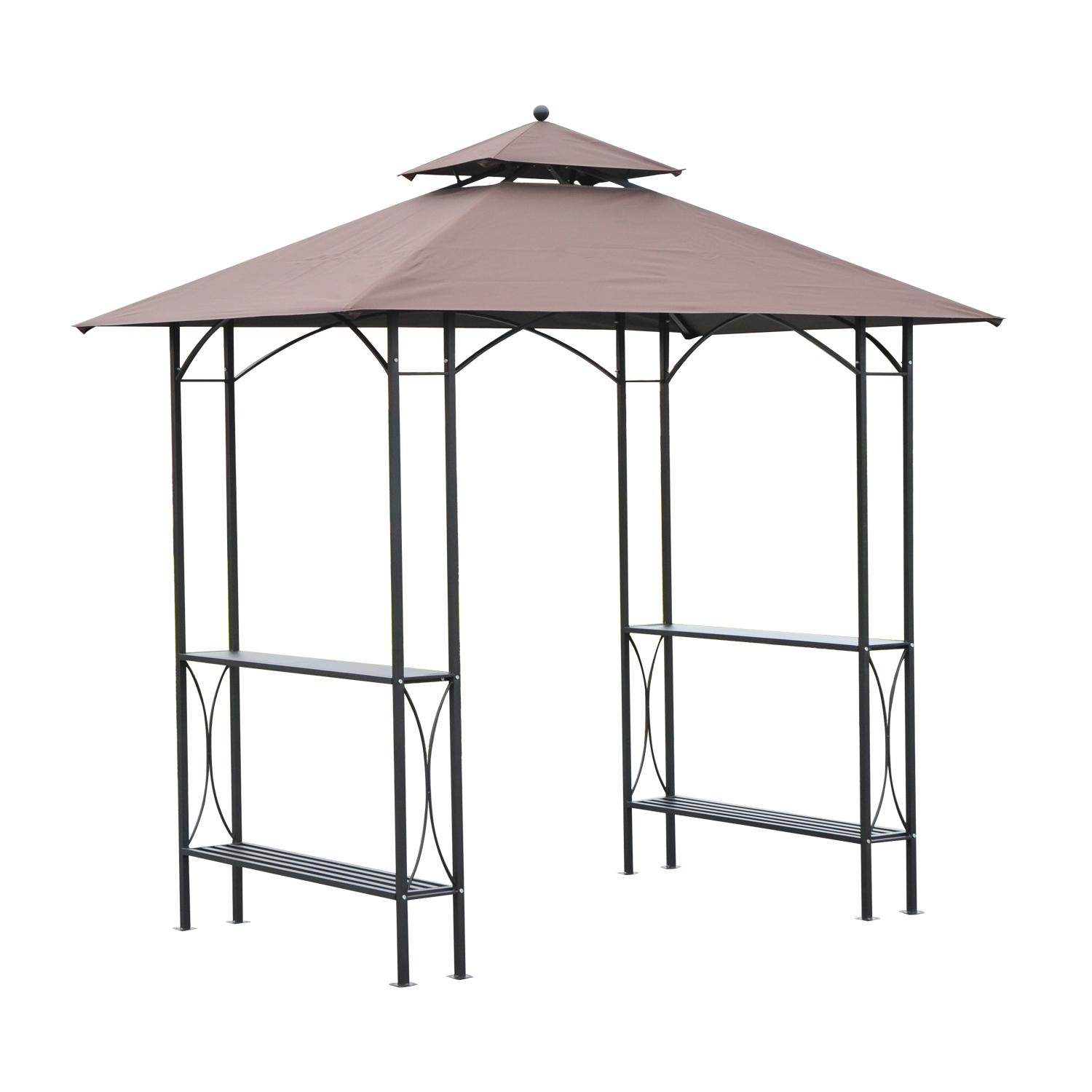 Outsunny 8 ft. 2-Tier Outdoor Grill Gazebo