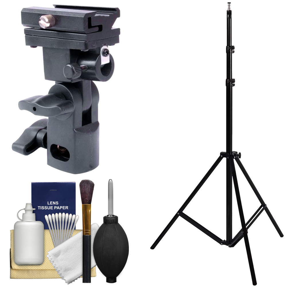 Precision Design DL-0318 Shoe Mount Flash & Umbrella Holder with Light Stand and Cleaning Kit