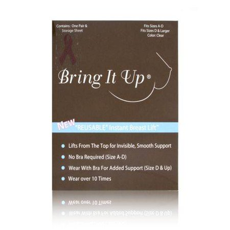 Bring It Up Reusable Instant Breast Lift 1 Pair : Size D & Larger (Clear)