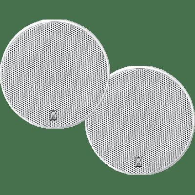 "Poly-Planar MA-6800 8/"" Platinum Round Marine Speaker 400W//Pair White 3-way"