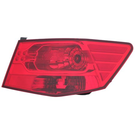 Fits 2010-2013 Kia Forte Quarter Panel Passenger Right Rear Back Lamp Tail Light Center Tail Light Rear Panel