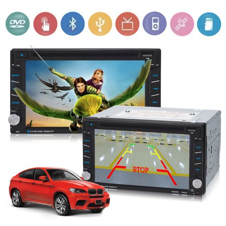 """Jeobest Car GPS Navigation DVD Player - Double Din Car DVD Player GPS Navigation 6.2"""" in Dash Touch Screen Car Audio Radio Player Bluetooth with Free Rear Camera 8GB American Map Card"""