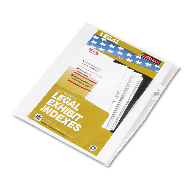 """80000 Series Legal Index Dividers, Side Tab, Printed """"6"""", 25/Pack"""