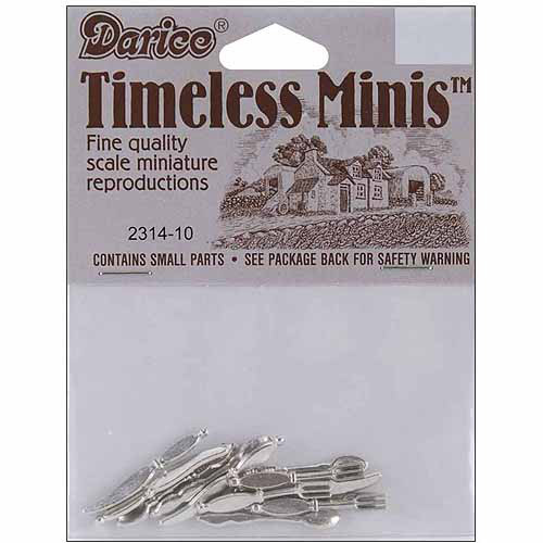 Timeless Miniatures Silverware, 12pk