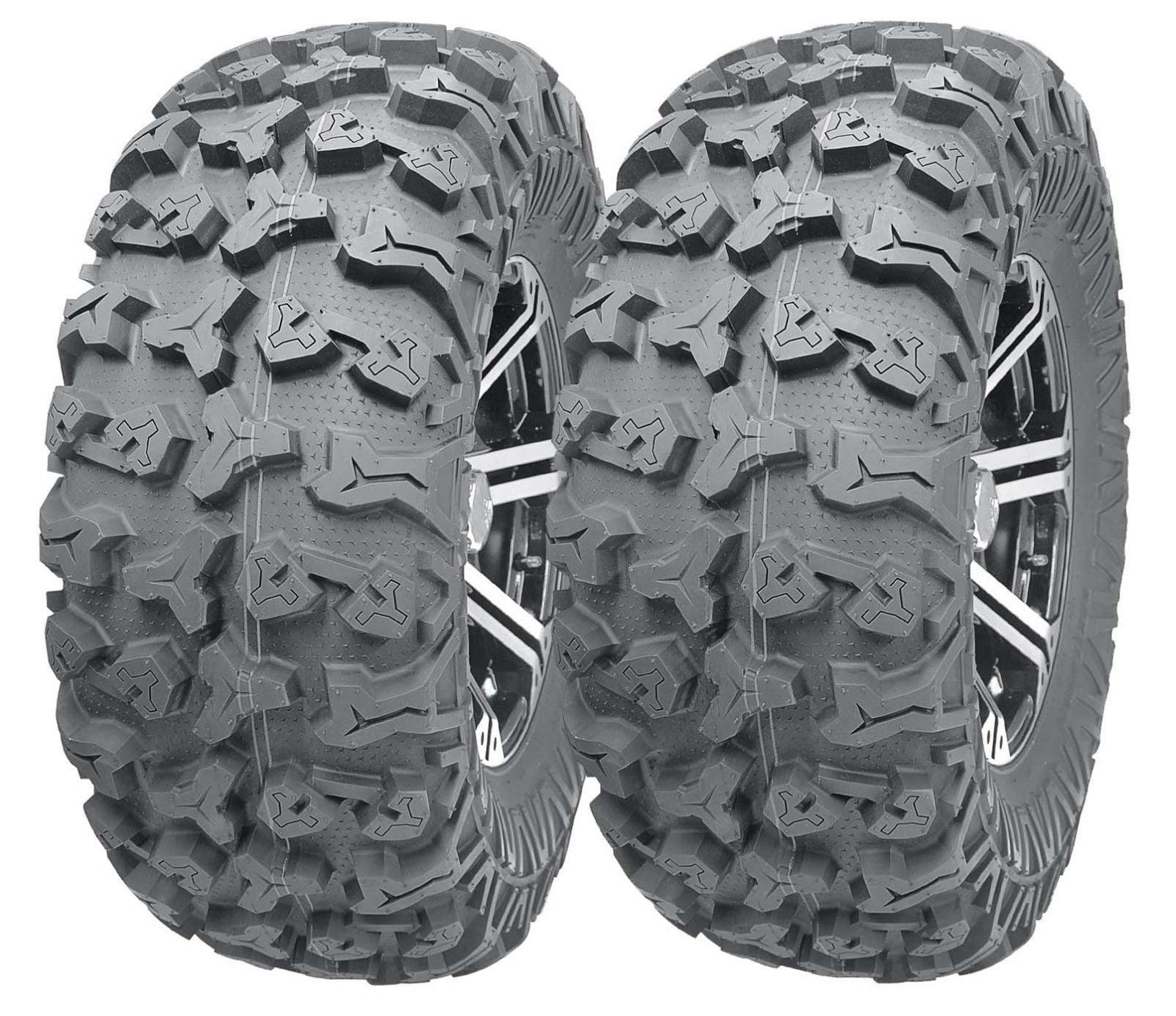 2 WANDA ATV Front Tire Set 23x7-10 for 96-09 Polaris Trail Blazer 250 330 400