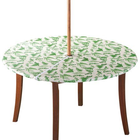 Garden Greenery Zippered Elasticized Umbrella Table Cover