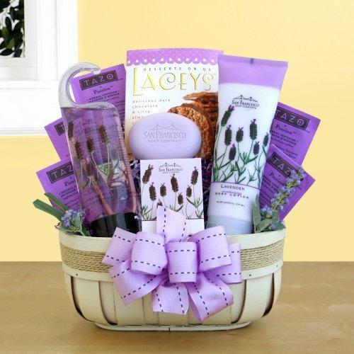 Fields of Lavender Valentine Spa Gift Basket