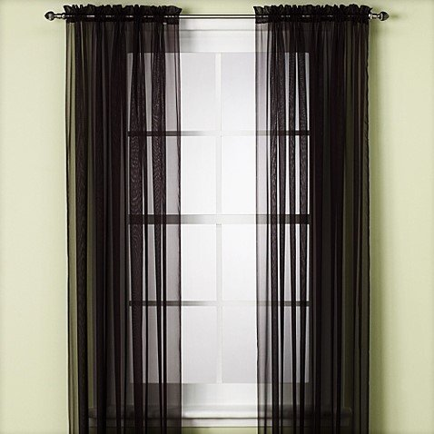 "1 PANELS  55"" WIDE X 63"" LENGTH  SOILD WINDOW SHEER PANELS CURTAINS TREATMENT ROD POCKET DRAPE MANY COLORS AVILABLE"