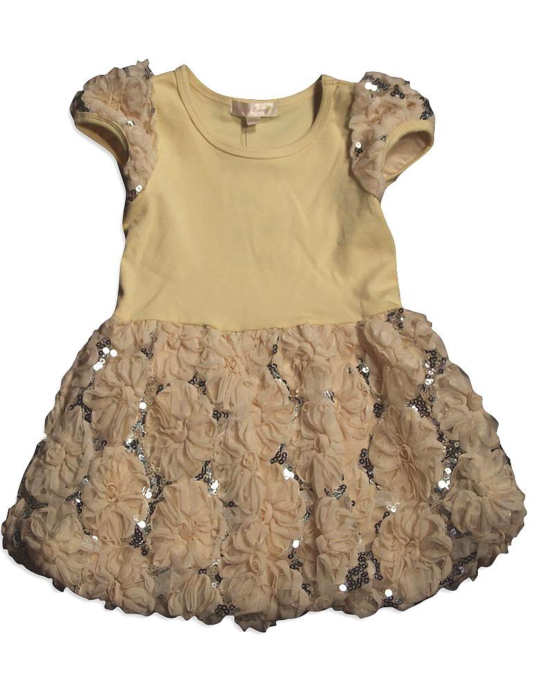 Baby Sara Toddler & Girls Easter Holiday Dressy Party Dresses, 26432 Ivory / 4