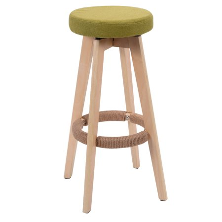Costway 29 Inch Winsome Round Wood Bar Stool Dining Chair