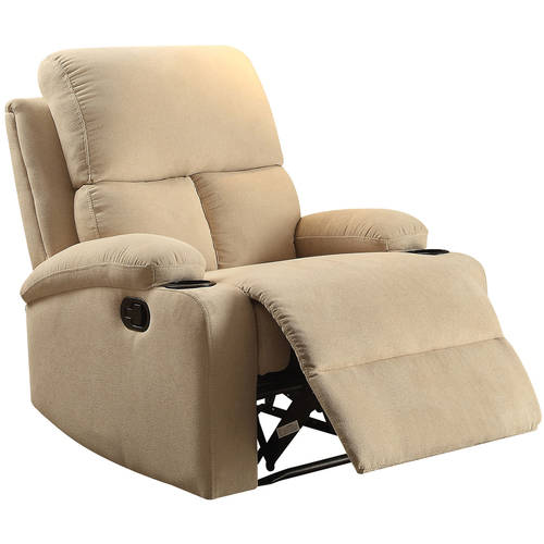 ACME Rosia Linen Recliner with Cup Holder, Multiple Colors by Acme Furniture