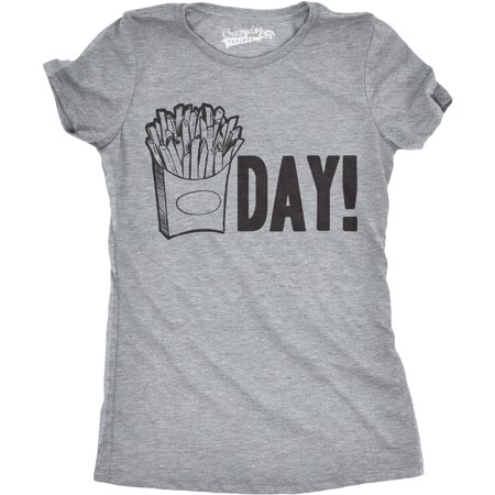 Womens Fry Day Tshirt Funny Fast Food French Fry Weekend TGIF (Best French Fries In Miami)