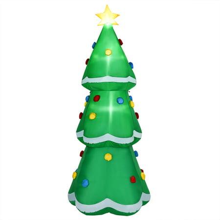 10' Inflatable Christmas Tree LED Lighted Giant Waterproof Tree Indoor & Outdoor Inflatable Christmas Lights
