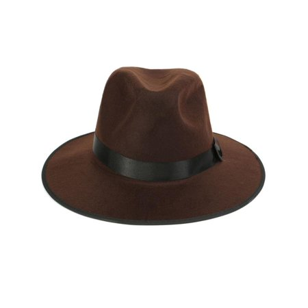 05b921f9d02 Meigar Vintage Wide Brim Wool Felt Floppy Fedora Jazz Hat Bowler Trilby Cap  for Men Women Christmas Gift - Walmart.com