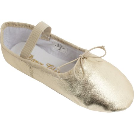 Girls Gold Leather One Piece Outsole Ballet Shoes 5 Toddler-12 Kids - Toddler Girls Ballet Shoes