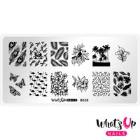 Whats Up Nails - B028 Tropical Escape Stamping Plate Nail Art Design