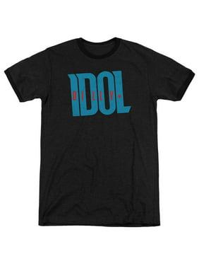 Billy Idol Logo Mens Adult Heather Ringer Shirt