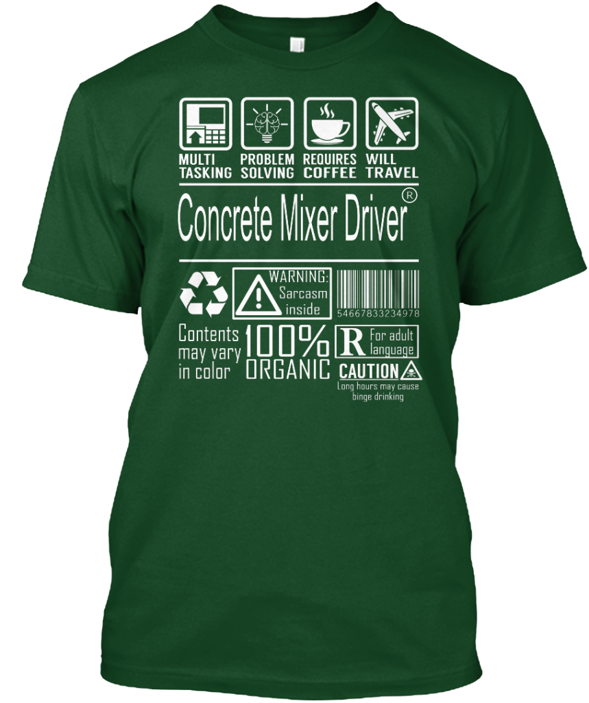 Concrete Mixer Driver MultiTasking Hanes Tagless Tee T-Shirt by