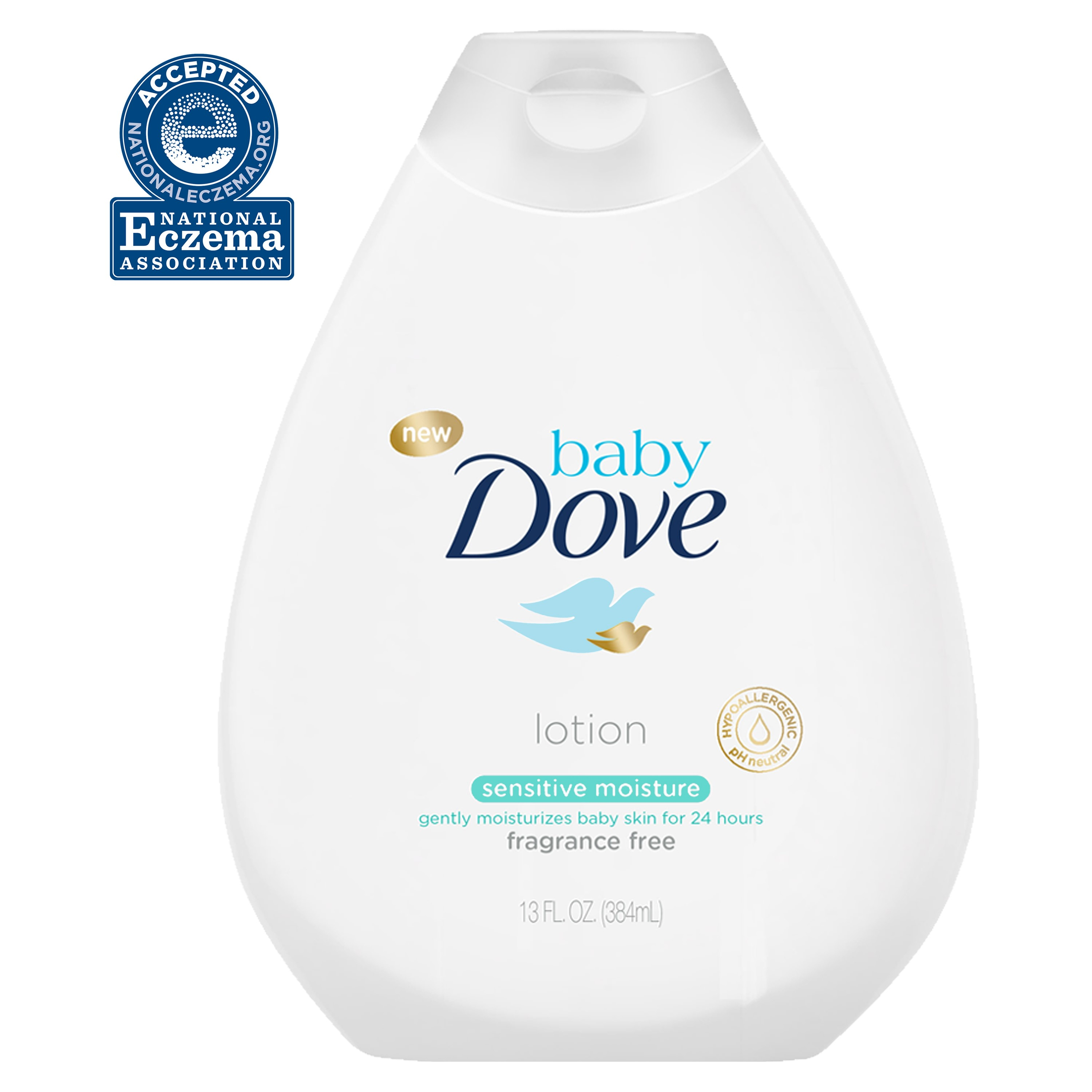 Baby Dove Sensitive Moisture Fragrance-Free Lotion, 13 oz