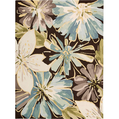 Nourison Fantasy Floral Images Watercolor Blooms Rug