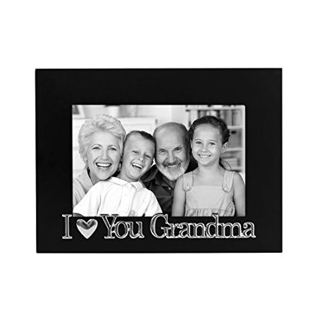 I Love You Grandma Black Picture Frame - Fits 4x6 Inch Photos (Fits 4x6 Photo)