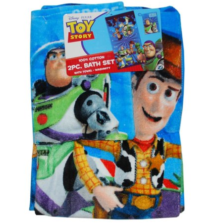 Disney Toy Story 2 Piece Bath Washmitt Set Walmart Com