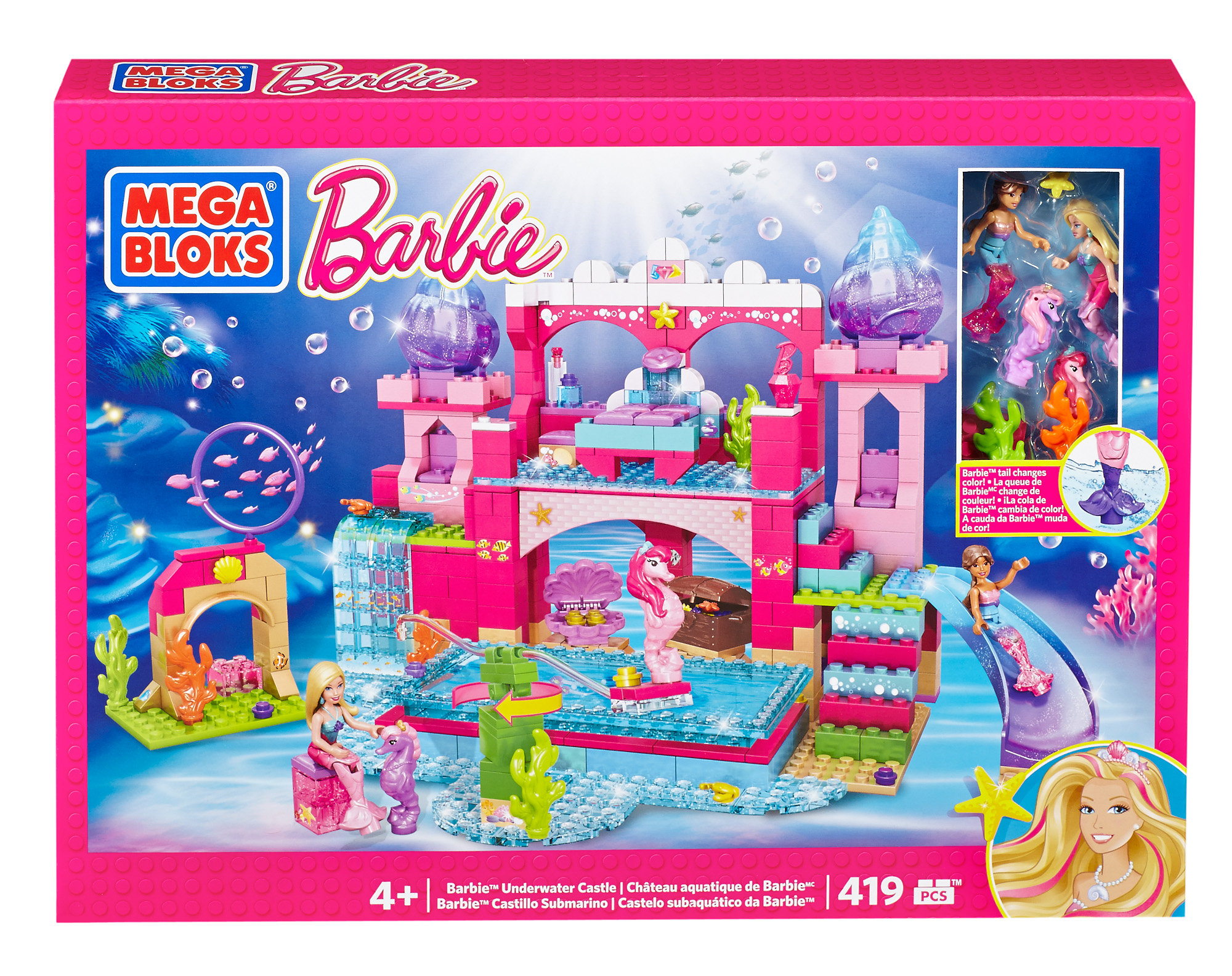 Mega Bloks Barbie's Underwater Castle by Mattel