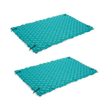 Intex 9.5' Inflatable Floating Water Swimming Pool Lake Mat Platform Pad, 2 Pack