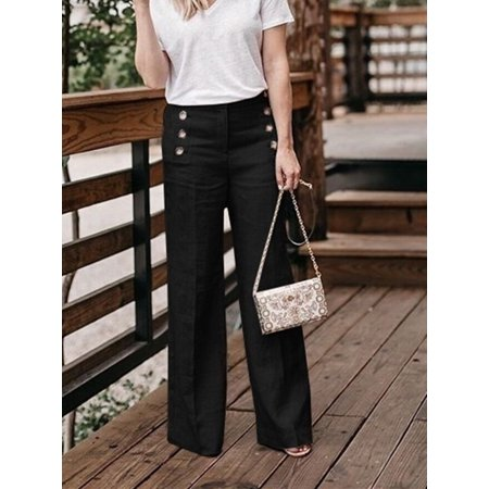 Casual Wide Leg Pants For Woman Long Trousers