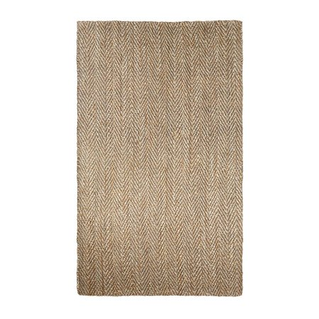 2' x 3' Gray, Cream and Brown Hoopes Design Area Throw Rug