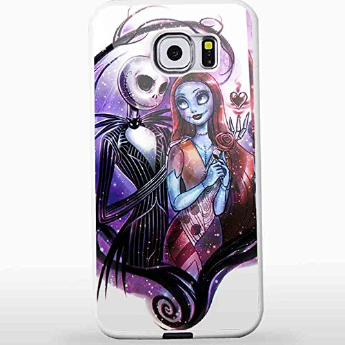 Ganma Nightmare BeCase Fore Christmas Jack and Sally Case For iPhone and Case For Samsung Galaxy Case (Case For Samsung Galaxy S6 white)