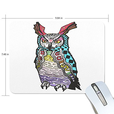 POPCreation Owl Mouse pads Gaming Mouse Pad 9.84x7.87 inches ()
