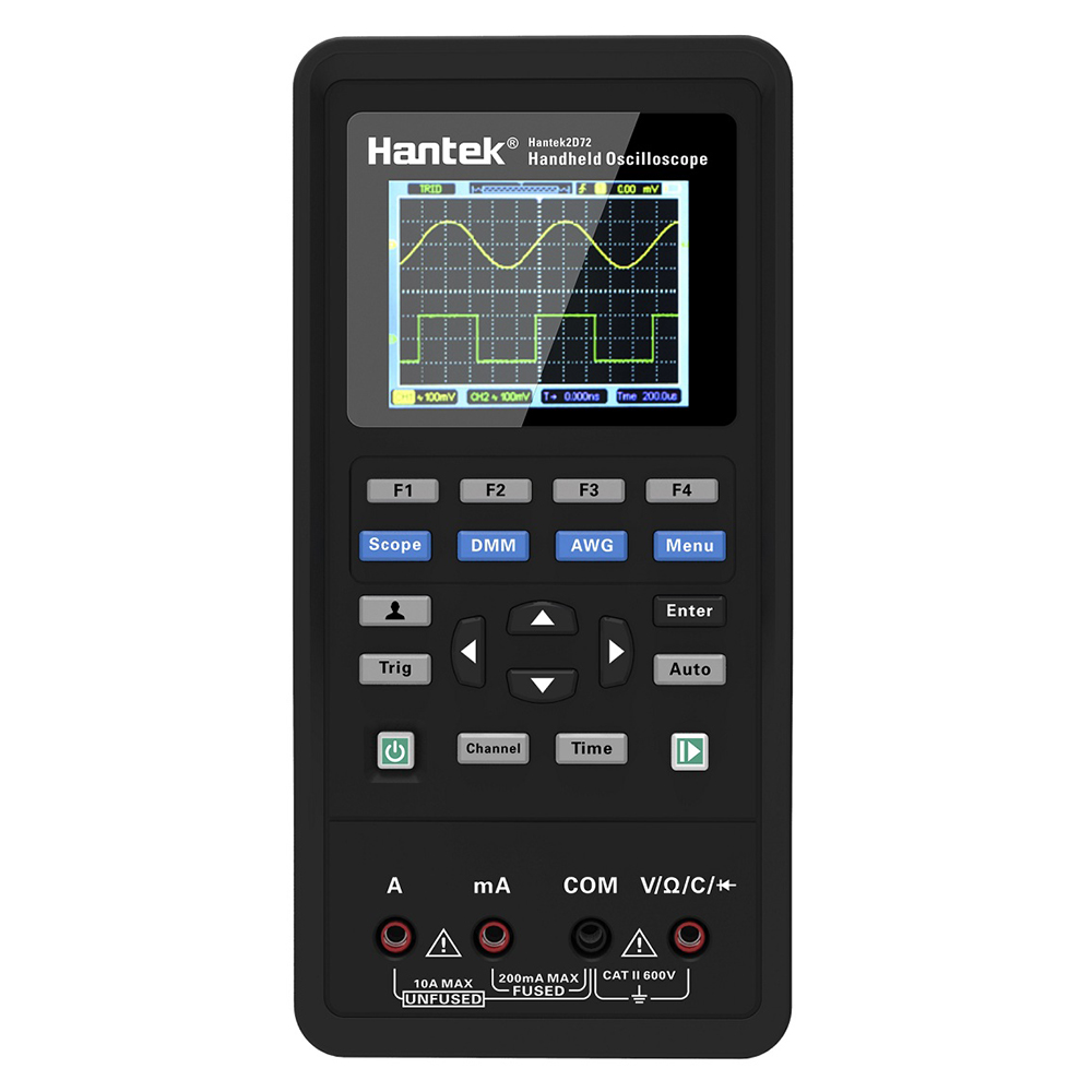 IDES num/érique Intelligent Portable Stockage Oscilloscope multim/ètre AC//DC Courant Tension r/ésistance Diode testeur