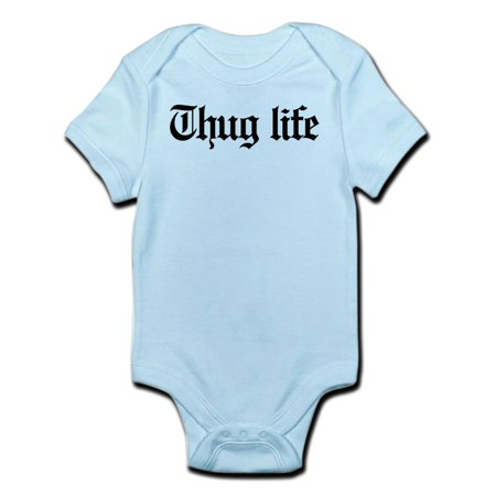 CafePress - Thug Life, Gangster, Baby, G, Thug Infant Bodysuit - Baby Light Bodysuit - Gangster Items