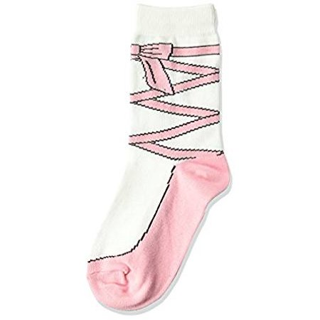 Shadow Billet - K. Bell Girl's Ballet Slipper Crew Socks, Rose Shadow, Sock Size 7.5-9/Shoe Size 11-4, 1 Pair