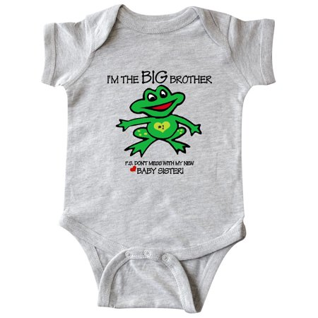Frog Big Brother of Baby Sister Infant Creeper