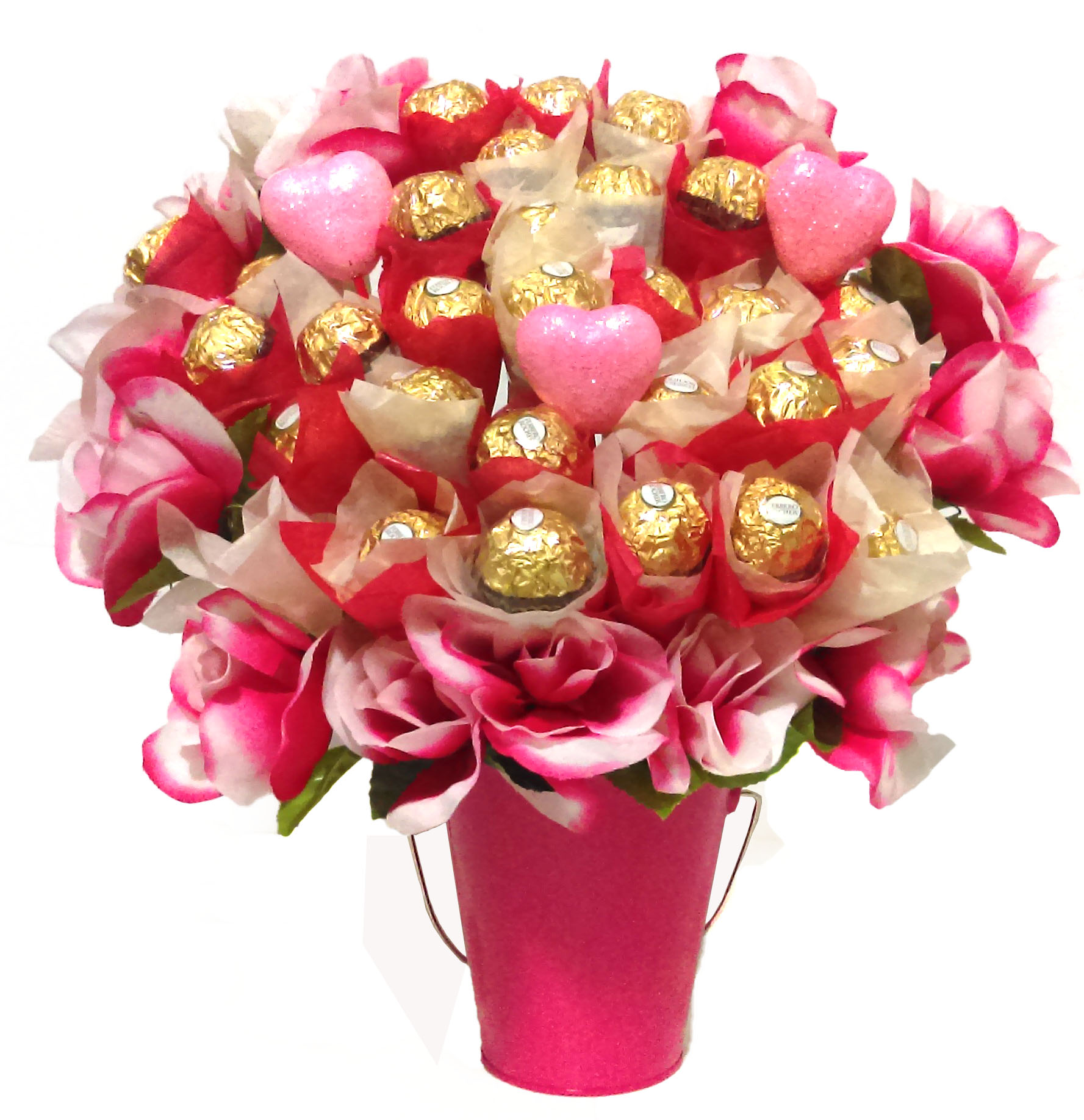 Pink Rose Ferrero Bouquet
