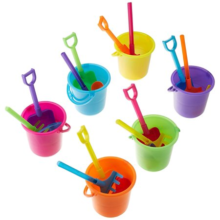 Beach Play Sets - 12 Buckets, Shovels, Rakes, and Scoops, 12 sets per order By Fun