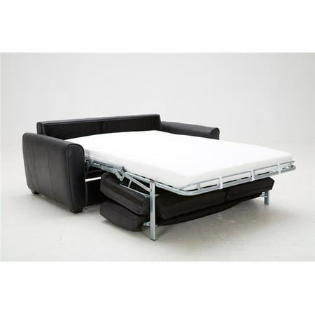 J M Furniture 18232 Ventura Sofa Bed In Black Leather