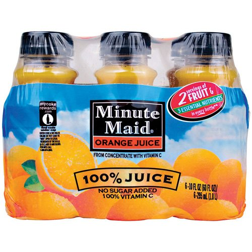 Minute Maid Juices To Go 100% Orange Juice, 6pk