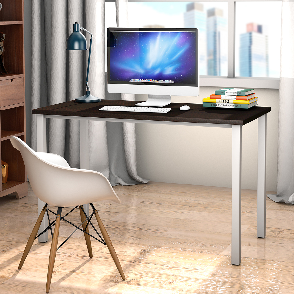 Wooden Computer Desk Pc Writing Table Workstation Home Office Furniture