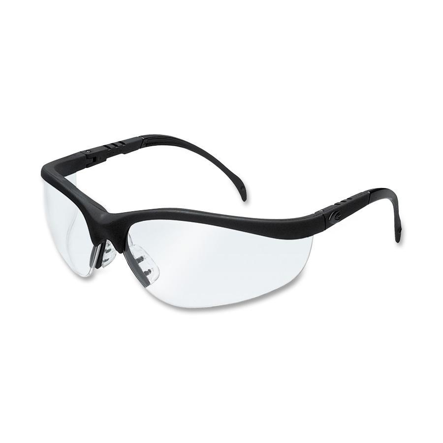 MCR Safety Klondike Safety Glasses, Matte Black Frame, Clear