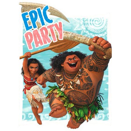 Moana Postcard Invitations, Includes 8 invitations per package By Toy Story From (Beach Postcards Package)