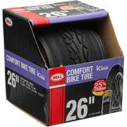 "Bell Sports Comfort Glide Road Bike Tire with Kevlar, 26"" x 1.75"", Black"
